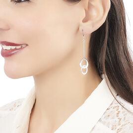 Boucles D'oreilles Pendantes Joy Argent Blanc - Boucles d'oreilles fantaisie Femme | Histoire d'Or