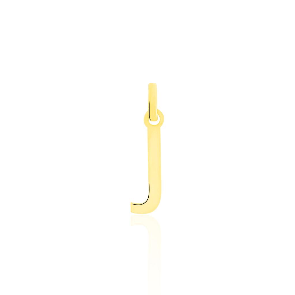 Pendentif Or Jaune Faviola Lettre J - Pendentifs Unisexe | Histoire d'Or