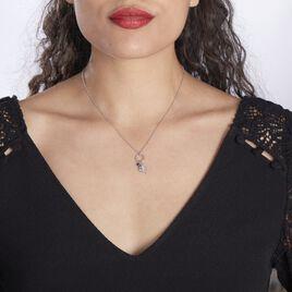 Collier Evyna Argent Blanc Oxyde De Zirconium - Colliers Etoile Femme   Histoire d'Or