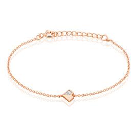 Bracelet Rossana Argent Rose Pierre De Synthese - Bracelets Coeur Femme | Histoire d'Or