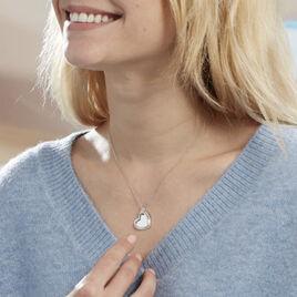 Collier Danael Argent Blanc Oxyde De Zirconium - Colliers Coeur Femme   Histoire d'Or