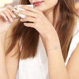 Bracelet Naelia Argent Blanc - Bracelets fantaisie Femme | Histoire d'Or