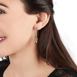 Boucles D'oreilles Pendantes Louisa Or Bicolore - Boucles d'oreilles pendantes Femme   Histoire d'Or