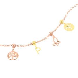 Charm Or Rose Arbre De Vie - Pendentifs Arbre de vie Femme | Histoire d'Or
