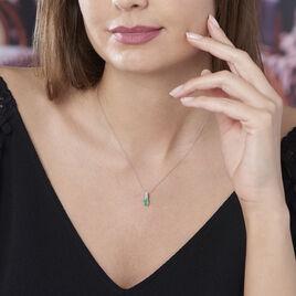 Collier Crista Or Blanc Emeraude Et Diamant - Bijoux Femme | Histoire d'Or