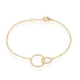 Bracelet Plaqué Or Anneaux Entrelacés - Bracelets fantaisie Femme | Histoire d'Or