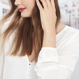 Bracelet Ailes Argent Blanc Oxyde De Zirconium - Bracelets fantaisie Femme | Histoire d'Or