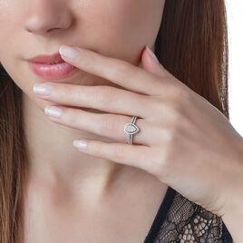 Bague Izia Or Blanc Diamant - Bagues avec pierre Femme   Histoire d'Or