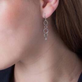 Boucles D'oreilles Pendantes Luisa Argent Blanc - Boucles d'oreilles fantaisie Femme | Histoire d'Or