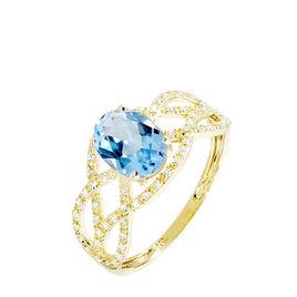 Bague Tina Or Jaune Topaze Et Diamant - Bagues solitaires Femme | Histoire d'Or