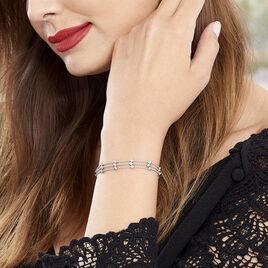 Bracelet Souela Argent Blanc - Bracelets fantaisie Femme | Histoire d'Or