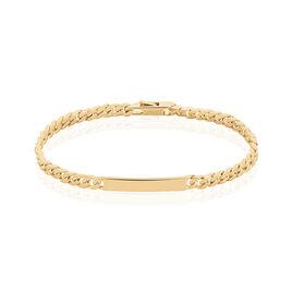 Bracelet Identité Clement Plaque Or Jaune - Bracelets fantaisie Femme | Histoire d'Or