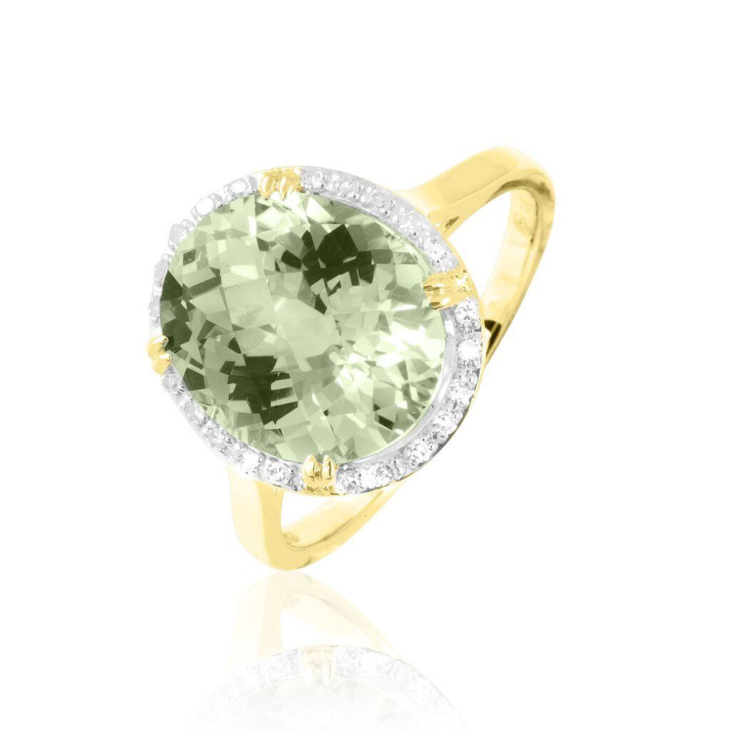 Bague Anna Or Jaune Amethyste Et Diamant - Bagues avec pierre Femme | Histoire d'Or