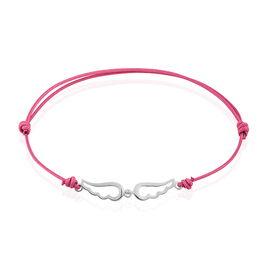 Bracelet Ailya Argent Blanc - Bracelets cordon Femme | Histoire d'Or