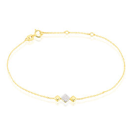 Bracelet Caterine Or Bicolore Diamant - Bijoux Femme   Histoire d'Or