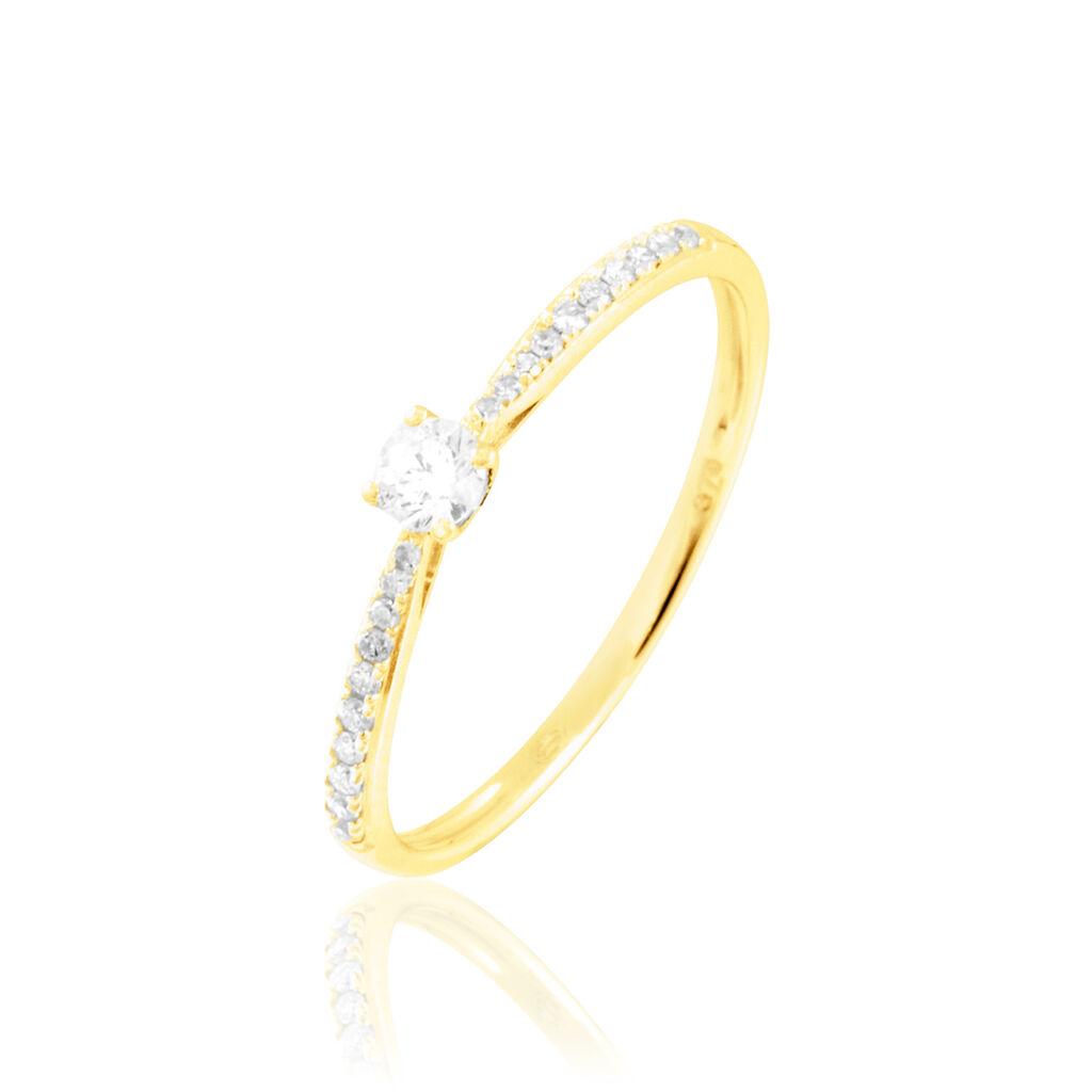 Bague Solitaire Laetitia Or Jaune Diamant - Bagues avec pierre Femme | Histoire d'Or