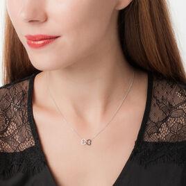 Collier Miranda Or Blanc Diamant - Colliers Coeur Femme | Histoire d'Or