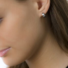 Creoles Acier Casilda Fil - Boucles d'oreilles créoles Femme | Histoire d'Or