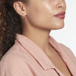 Créoles Siegfried Plaque Or Jaune - Boucles d'oreilles créoles Femme | Histoire d'Or