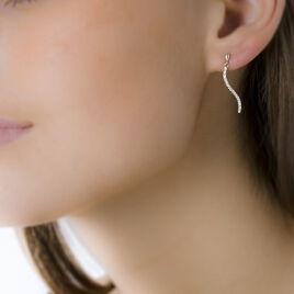 Boucles D'oreilles Pendantes Honoree Or Jaune Oxyde De Zirconium - Boucles d'oreilles pendantes Femme   Histoire d'Or