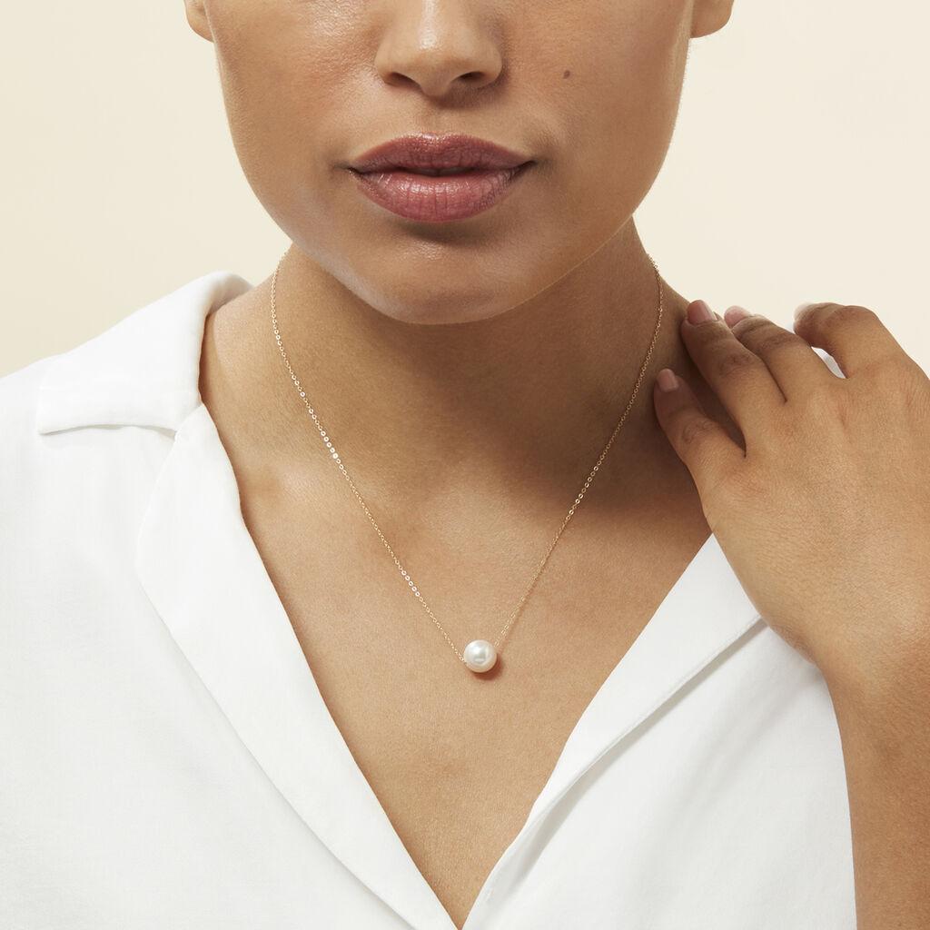 Collier Sissy Or Jaune Perle De Culture - Bijoux Femme   Histoire d'Or