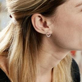 Boucles D'oreilles Pendantes Catiane Argent Blanc Oxyde De Zirconium - Boucles d'oreilles fantaisie Femme | Histoire d'Or