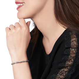 Bracelet Ciana Torsade Diamante Argent Blanc - Bracelets fantaisie Femme | Histoire d'Or