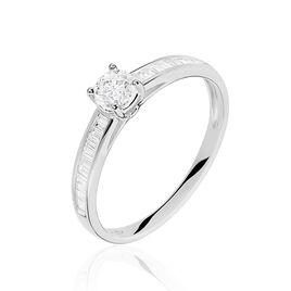 Bague Solitaire Anastasiane Or Blanc Diamant - Bagues avec pierre Femme   Histoire d'Or