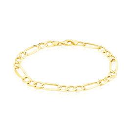 Bracelet Cameo Maille Alternee 1/3 Or Jaune - Bracelets chaîne Homme   Histoire d'Or