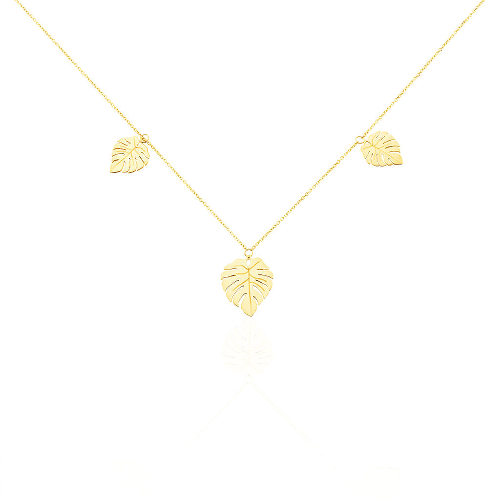 Collier Siobhan Or Jaune - Colliers Plume Femme   Histoire d'Or