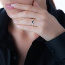 Bague Celestine Or Jaune Saphir Et Diamant - Bagues solitaires Femme | Histoire d'Or