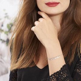 Bracelet Savahna Argent Blanc - Bracelets fantaisie Femme | Histoire d'Or