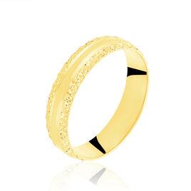 Alliance June 2 Rangs Diamantee Ruban Plat Or Jaune - Alliances Femme   Histoire d'Or