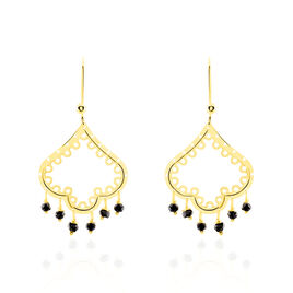 Boucles D'oreilles Pendantes Aysha Or Jaune Oxyde De Zirconium - Boucles d'oreilles pendantes Femme | Histoire d'Or