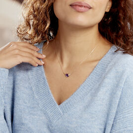 Collier Or Jaune Augustina Amethystes Oxydes De Zirconium - Bijoux Femme | Histoire d'Or