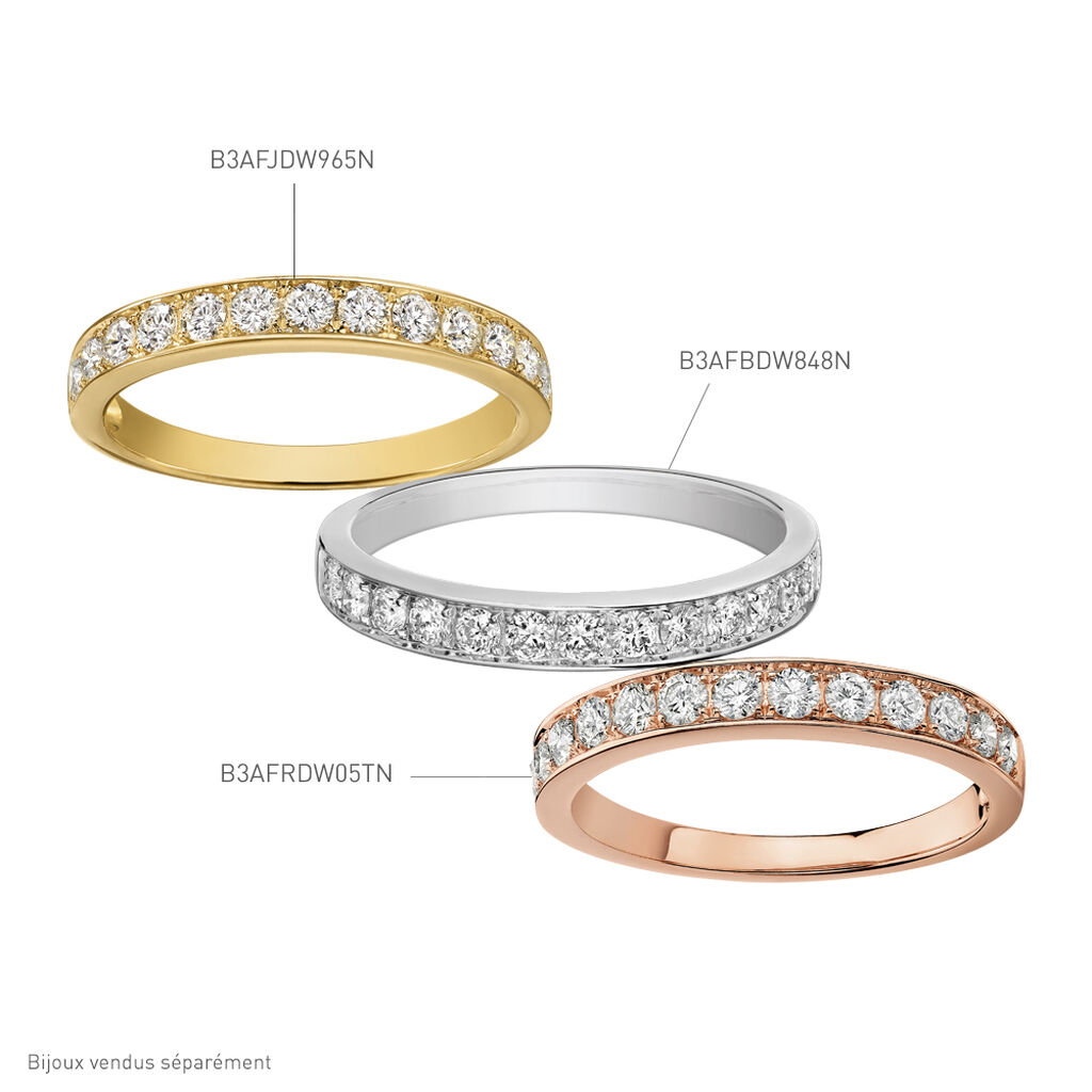 Alliance Juliette Or Blanc Diamant - Alliances Femme | Histoire d'Or