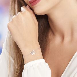 Bracelet Delphe Argent Blanc Oxyde De Zirconium - Bracelets Papillon Femme | Histoire d'Or