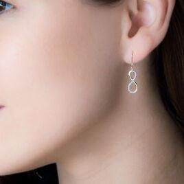 Boucles D'oreilles Pendantes Or Jaune - Boucles d'Oreilles Infini Femme | Histoire d'Or