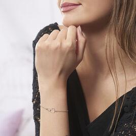 Bracelet Estina Argent Blanc - Bracelets Coeur Femme | Histoire d'Or