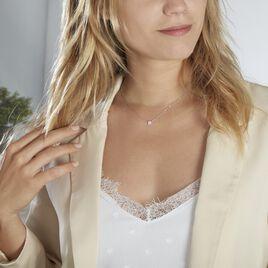 Collier Auxana Argent Blanc Oxyde De Zirconium - Colliers fantaisie Femme   Histoire d'Or