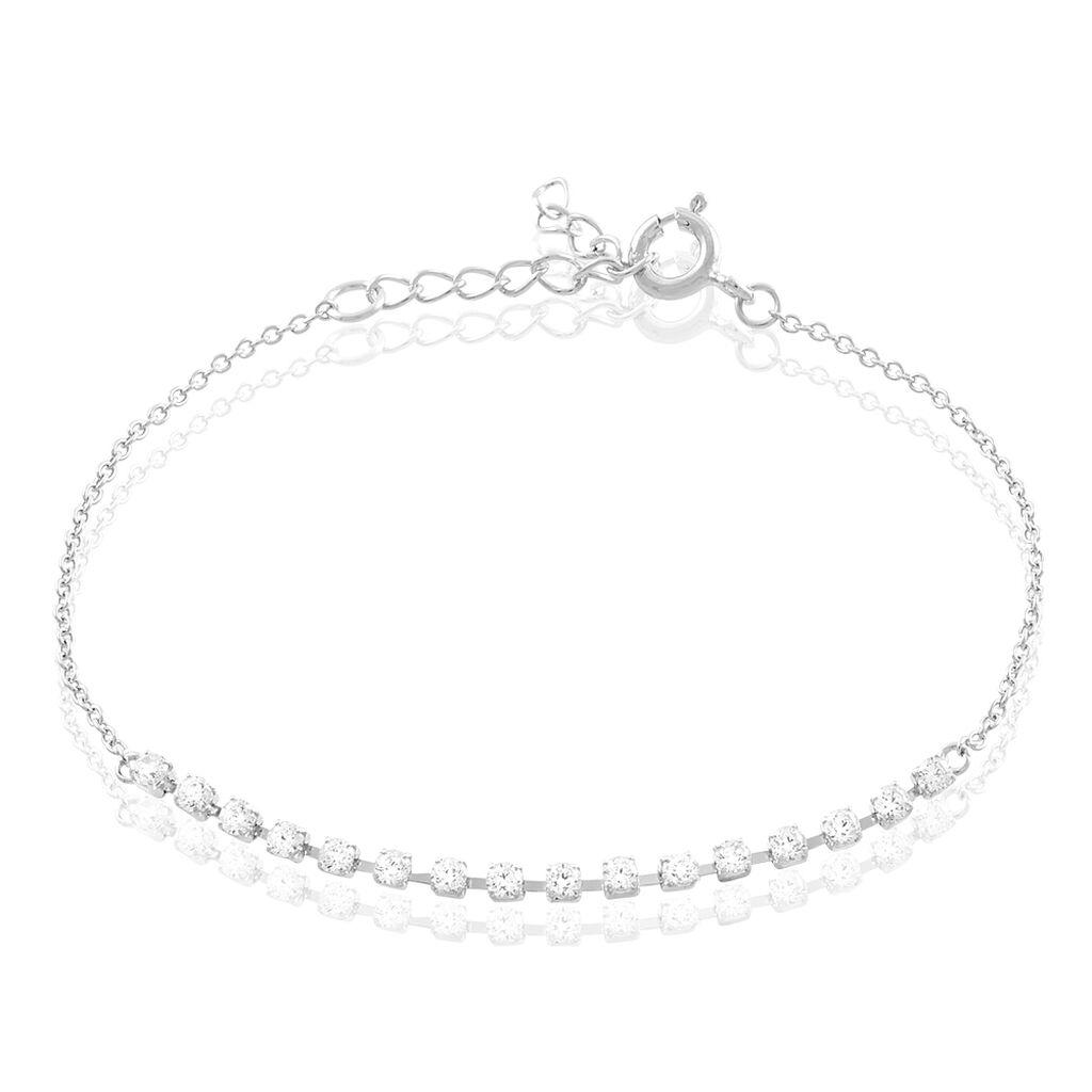 Bracelet Whitney Argent Blanc Oxyde De Zirconium - Bracelets fantaisie Femme | Histoire d'Or