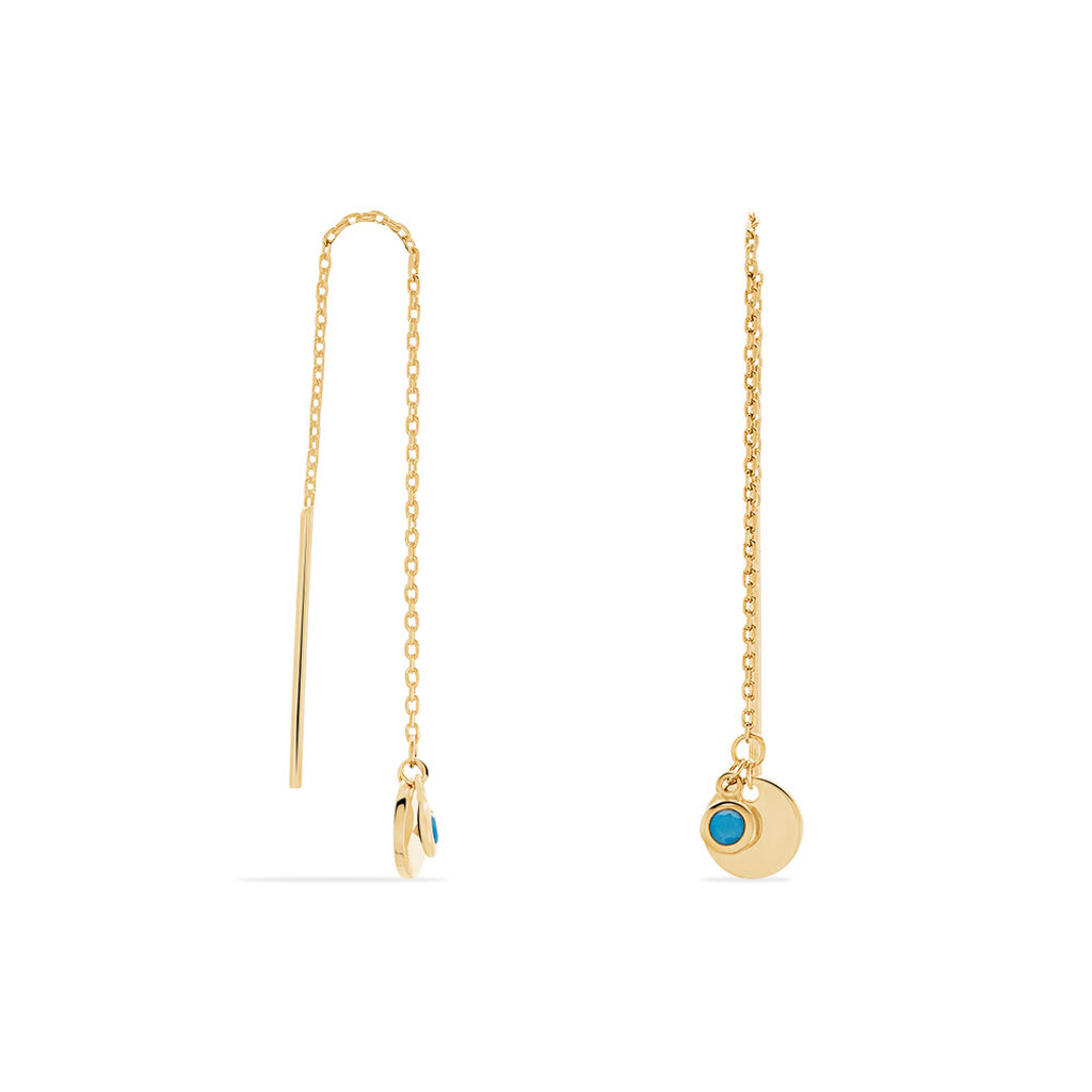 Boucles D'oreilles Puces Adoni Plaque Or Jaune Verre - Boucles d'oreilles fantaisie Femme | Histoire d'Or