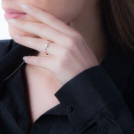 Bague Solitaire Flora Or Blanc Diamant - Bagues solitaires Femme   Histoire d'Or