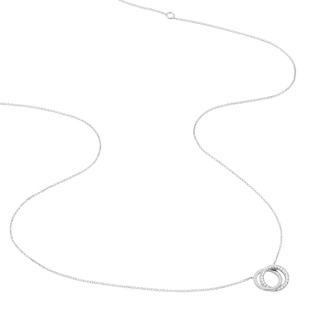 Collier Absolu Or Blanc Diamant