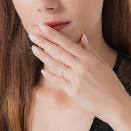 Bague Solitaire Anoushka Or Bicolore Diamant - Bagues solitaires Femme | Histoire d'Or