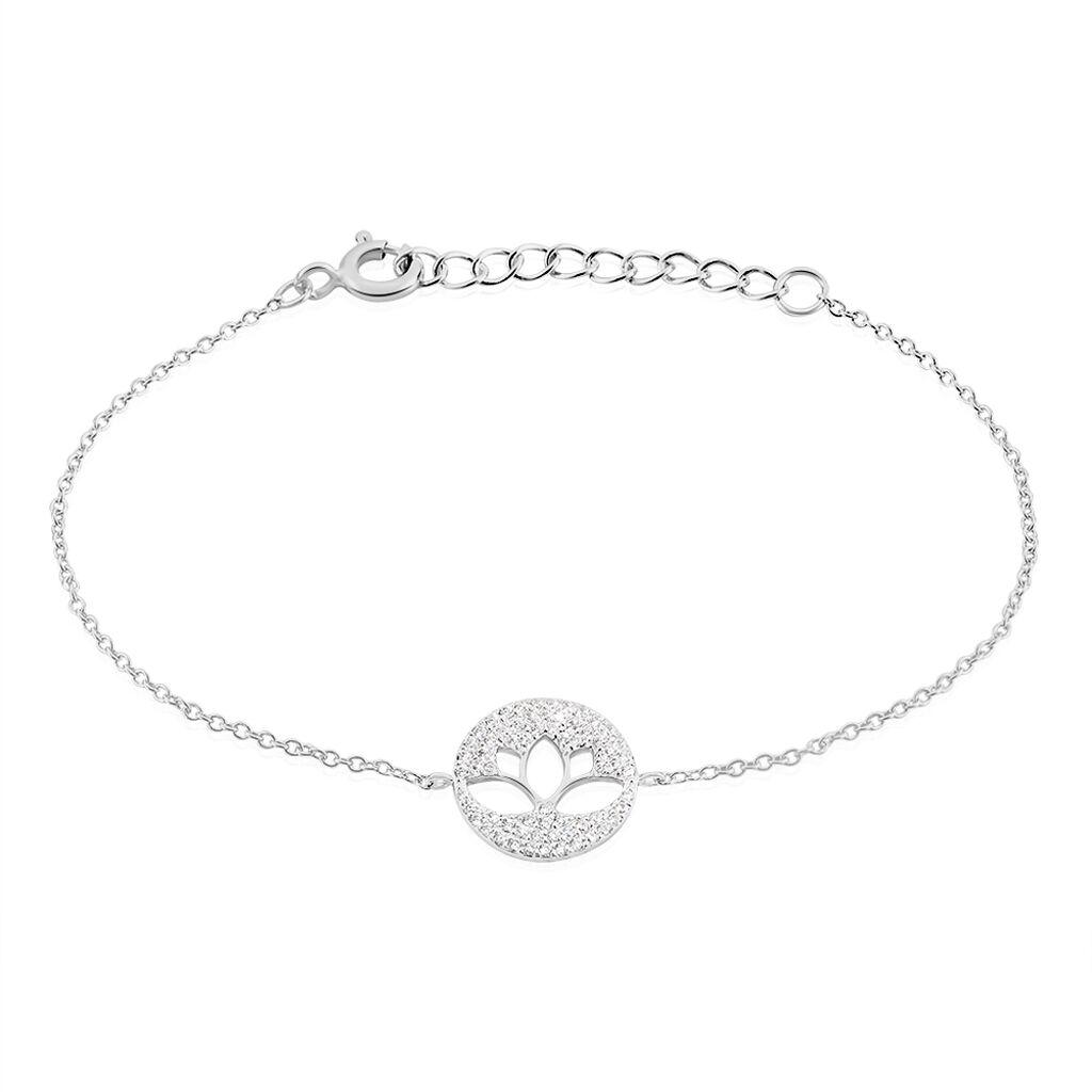 Bracelet Dinia Argent Blanc Oxyde De Zirconium - Bracelets fantaisie Femme   Histoire d'Or