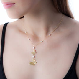 Collier Shainesse Or Jaune Strass - Colliers Papillon Femme   Histoire d'Or