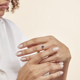 Bague Justienne Or Blanc Saphir Et Diamant - Bagues solitaires Femme | Histoire d'Or