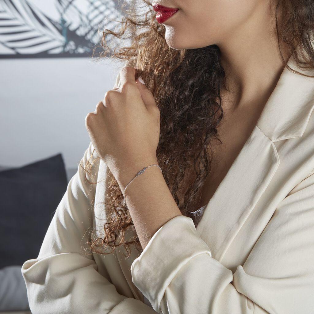 Bracelet Argent Rhodié Maic - Bracelets Plume Femme | Histoire d'Or