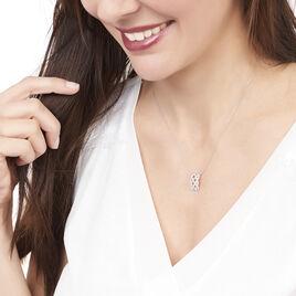 Collier Adelaide Or Blanc Diamant - Bijoux Femme   Histoire d'Or